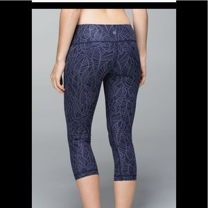 LULULEMON Wunder Under Pretty Palm Cadet